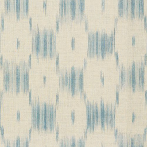 Lee Jofa Ikat Check Dusty Blue Fabric - Fabric