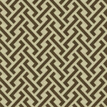 Groundworks Chinese Fret Cocoa Fabric