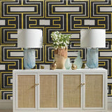 Kravet Arreaza Coal Wallpaper
