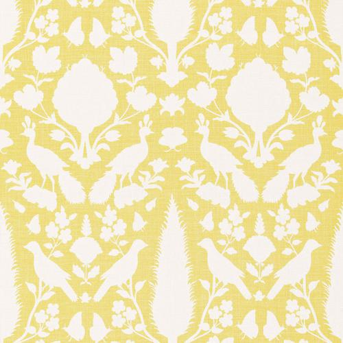 Schumacher Chenonceau Buttercup Fabric - Fabric