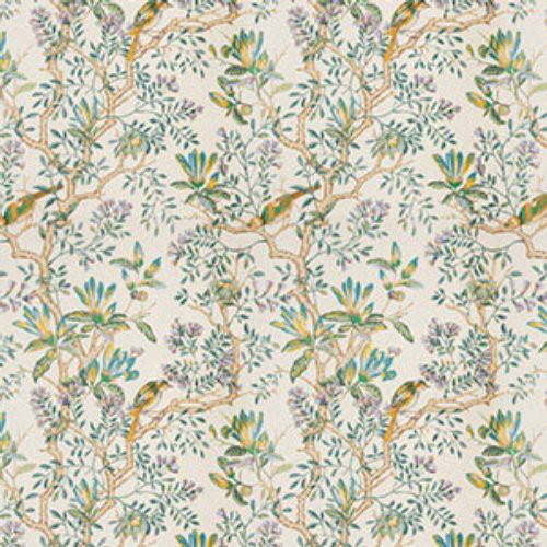Vervain Buchoz Floral Teal Fabric