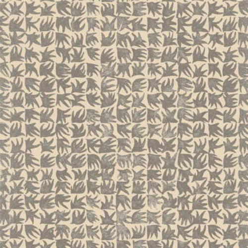 Lee Jofa Tiny Leaf Charcoal Fabric - Fabric