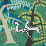 Schumacher Antelopes Jade Fabric