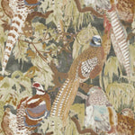 Mulberry Game Birds Charcoal Wallpaper