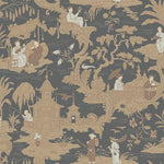 Cole & Son Chinese Toile Charcoal Wallpaper