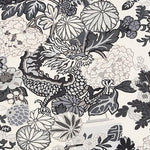 Schumacher Chiang Mai Dragon Smoke Fabric