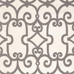 Schumacher Manor Gate Charcoal Fabric