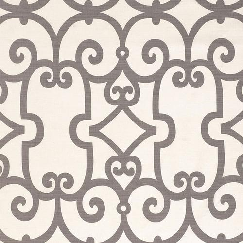 Schumacher Manor Gate Charcoal Fabric - Fabric
