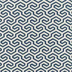 Schumacher Ming Fret Navy Fabric