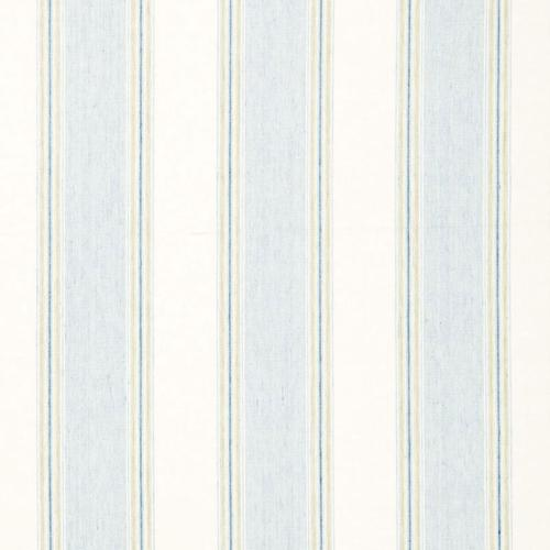 Schumacher Savannah Linen Stripe Chambray Fabric - Fabric