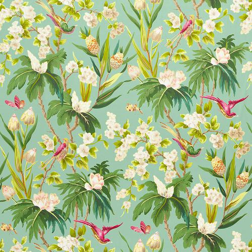Schumacher Seychelles Sea Fabric - Fabric