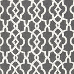 Schumacher Summer Palace Fret Smoke Fabric