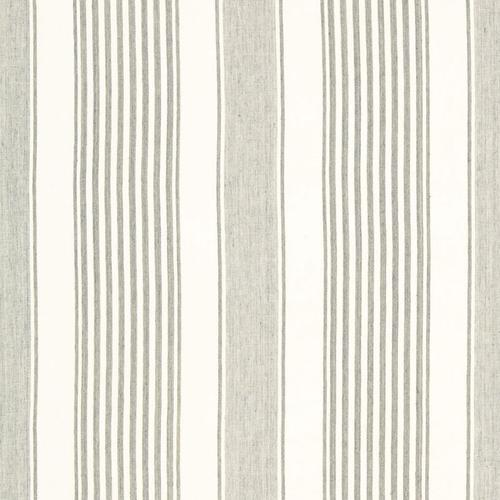 Schumacher Summerville Linen Stripe Gull Fabric - Fabric