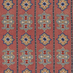 Schumacher Temara Embroidered Print Pomegranate Fabric