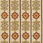 Schumacher Temara Embroidered Print Spice Fabric