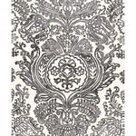 Schumacher Tremezzo Damask Graphite Fabric