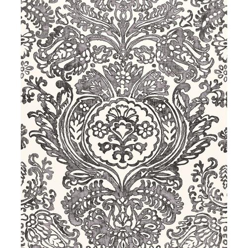 Schumacher Tremezzo Damask Graphite Fabric - Fabric