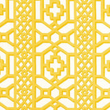 Schumacher Zanzibar Trellis Chintz Canary Fabric
