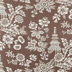 Schumacher Song Garden Cocoa Fabric