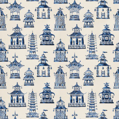 Fabricut Bezique Pagoda Royal Blue Fabric - Fabric