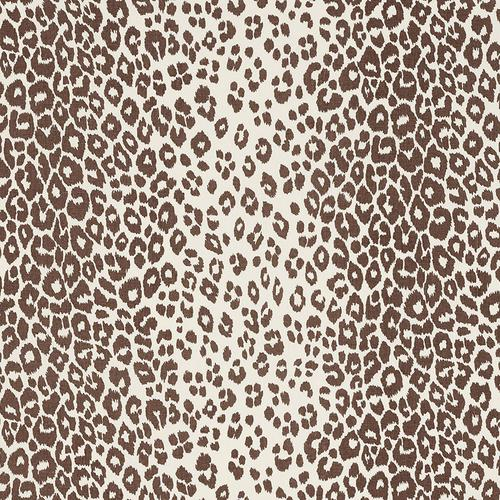 Schumacher Iconic Leopard Brown Fabric - Fabric