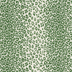 Schumacher Iconic Leopard Green Fabric