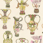Cole & Son Khulu Vases Cream & Multi Wallpaper