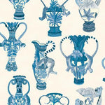 Cole & Son Khulu Vases Blue & White Wallpaper
