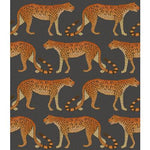 Cole & Son Leopard Walk Charcoal & Orange Wallpaper