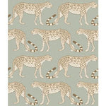 Cole & Son Leopard Walk Olive & White Wallpaper