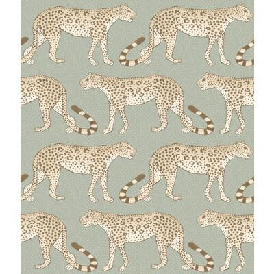 Cole & Son Leopard Walk Olive & White Wallpaper - Wallpaper