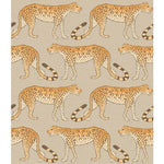 Cole & Son Leopard Walk Stone & Orange Wallpaper