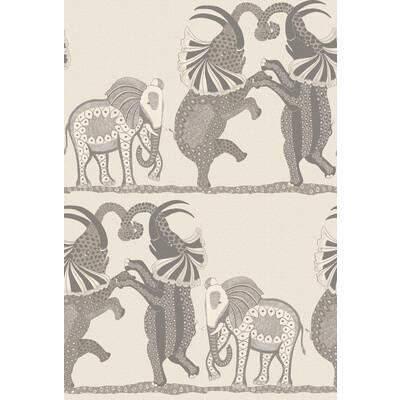 Cole & Son Safari Dance Pale Stone & Grey Wallpaper - Wallpaper