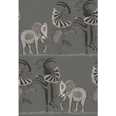 Cole & Son Safari Dance Charcoal Black & White Wallpaper - Wallpaper