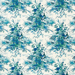 Schumacher Quail Meadow Peacock Fabric