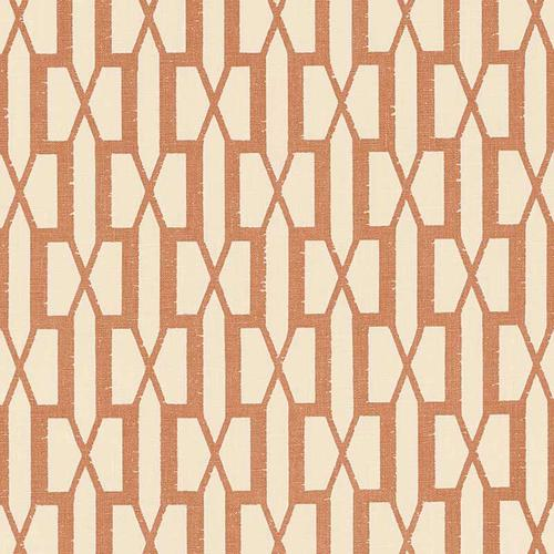 Schumacher Belvedere Burnt Orange Fabric - Fabric