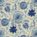 Brunschwig & Fils Yasmeen Blue Fabric