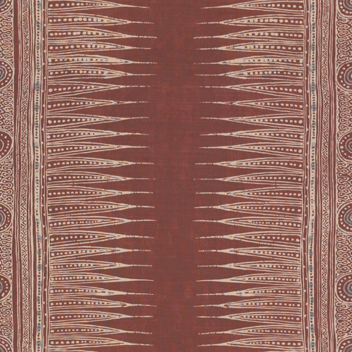 Lee Jofa Indian Zag Paprika Fabric - Fabric
