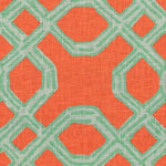 Lee Jofa Well Connected Aqua/Orange Fabric