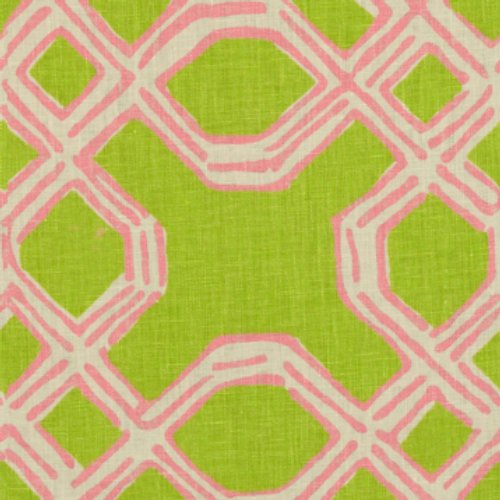 Lee Jofa Well Connected Pink/Green Fabric - Fabric