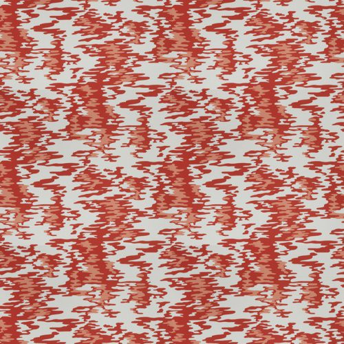Fabricut Water Reflections Hot Coral Fabric - Fabric