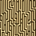 G P & J Baker Fretwork Foil Black/Gold Wallpaper