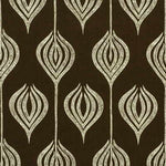 Groundworks Tulip Chocolate/Cream Fabric