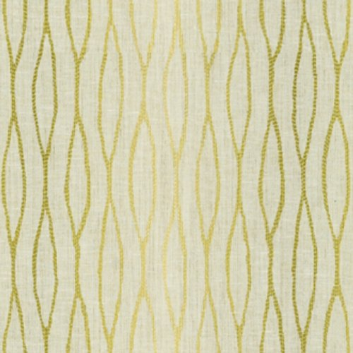 Groundworks Waves Ombre Lime Fabric - Fabric