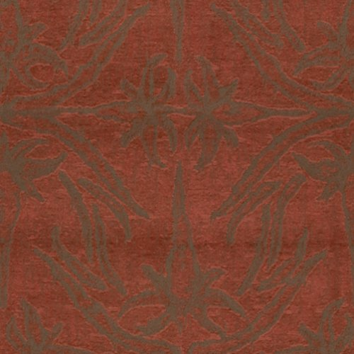 Groundworks Lily Branch Red Fabric - Fabric