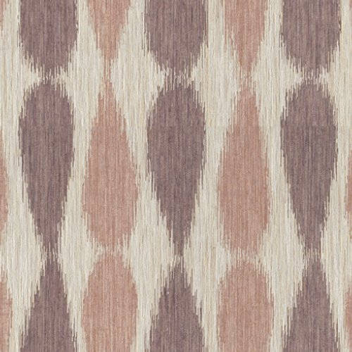 Groundworks Ikat Drops Lilac Fabric - Fabric