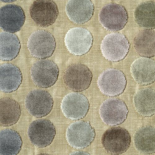 Groundworks Avery Dots Mauve/Taupe Fabric - Fabric