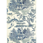 Lee Jofa Willow Lake Blue/Cream Wallpaper