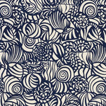 Schumacher Seashells Navy Fabric
