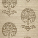 Schumacher Ottoman Flower Putty Fabric